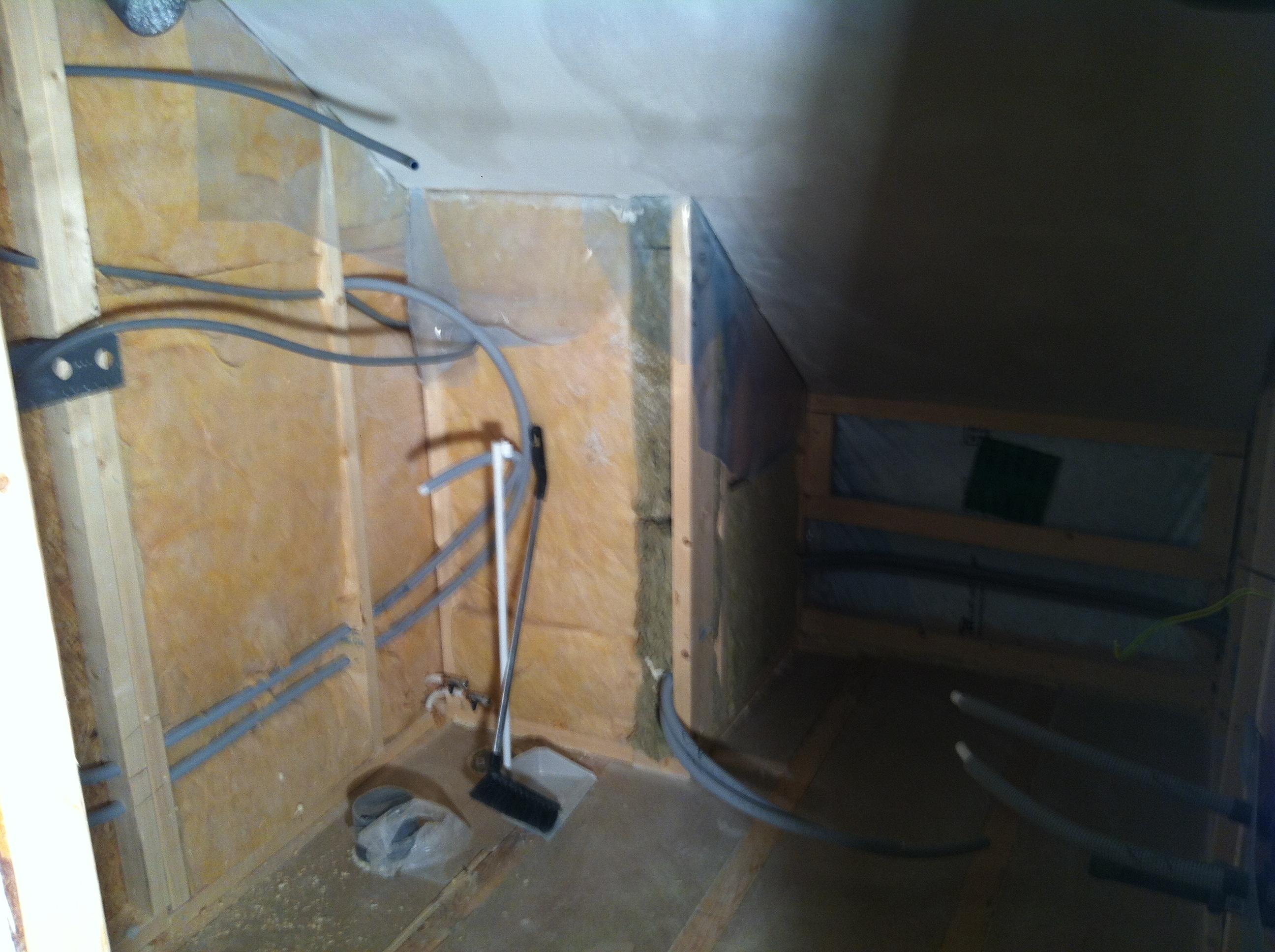 badrum under produktion
